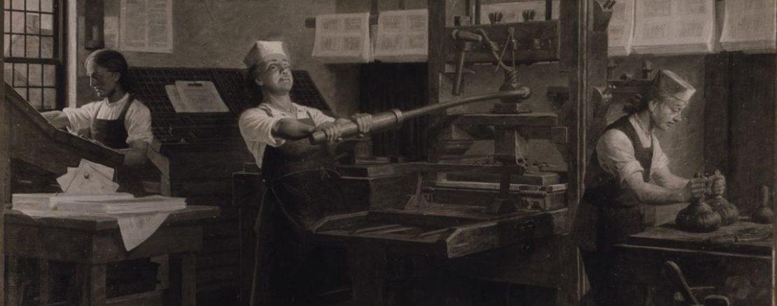 Бенджамин Франклин работал в типографии