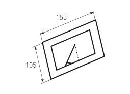 Бумажная рамка для фото 105x155