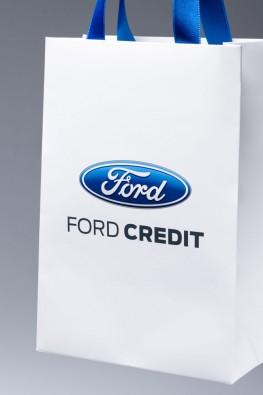 Бумажный пакет Форд с ручками лентами