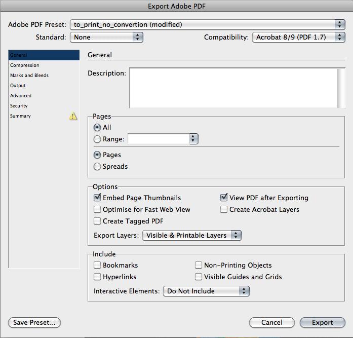 Настройки экспорта PDF из Adobe Indesign. Часть 1
