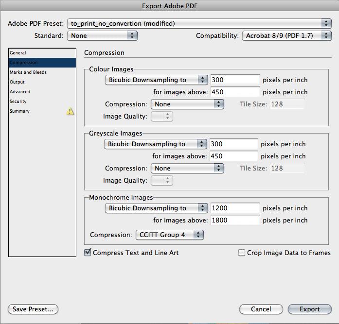 Настройки экспорта PDF из Adobe Indesign. Часть 2