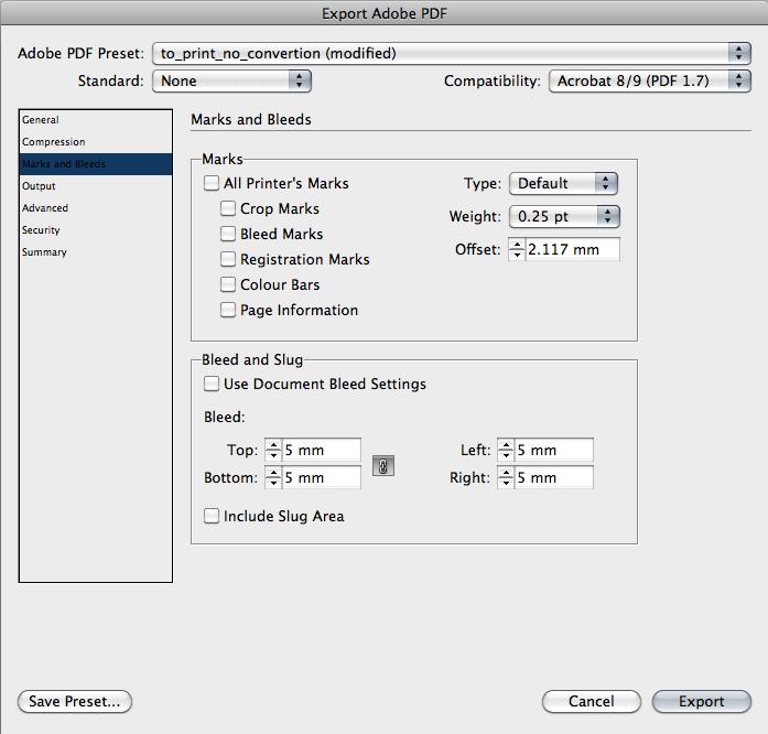 Настройки экспорта PDF из Adobe Indesign. Часть 3