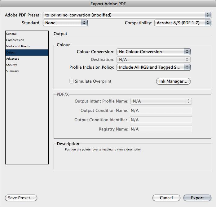 Настройки экспорта PDF из Adobe Indesign. Часть 4