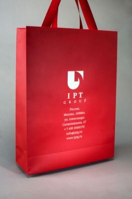 """Бумажный пакет с логотипом компании """"IPT Group"""", Москва"""