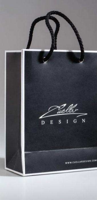 """Бумажный пакет с логотипом """"Cuellar Design"""""""