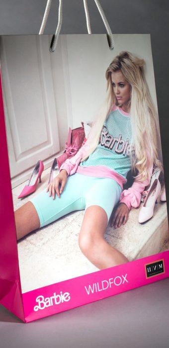 """Бумажный пакет для """"ЦУМ"""", Barbie, wildfox"""