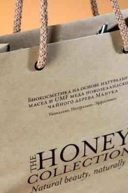 """Бумажный пакет из крафта """"Honey Collection"""", Москва"""