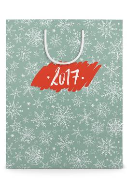Готовый праздничный бумажный пакет к Новому году