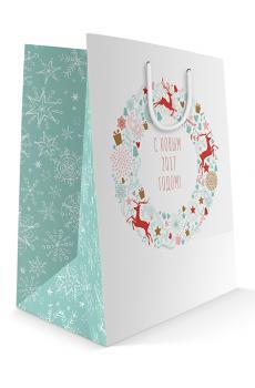 Готовый бумажный пакет к Новому 2017 году