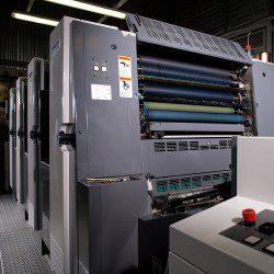 Офсетная печатная машина Shinohara-75-4 в печатном цехе типографии EGF (Еврографика)