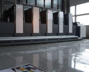 Офсетная печатная машина Shinohara-75-5 в печатном цехе типографии EGF (Еврографика)
