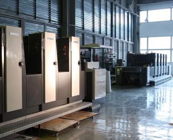 Офсетные печатные машины Shinohara-75-4 и Shinohara-75-5 в печатном цехе типографии EGF (Еврографика)