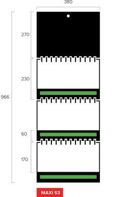 Размеры квартального календаря-трио Maxi Slim 3