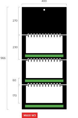Размеры квартального календаря-трио Maxi Wide 3