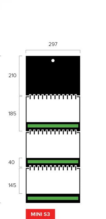 Размеры квартального календаря-трио Mini Slim 3