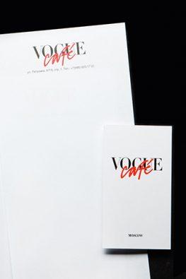 Рекламная полиграфия Vogue Cafe