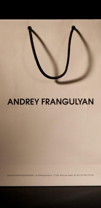"""Бумажный пакет для компании """"Andrey Frangulyan"""""""