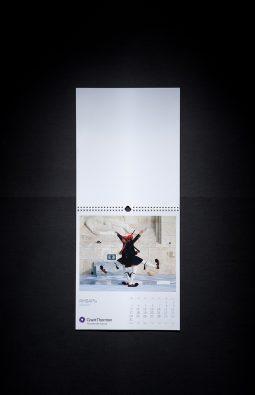 """Настенный перекидной календарь для компании """"Grant Thornton"""""""