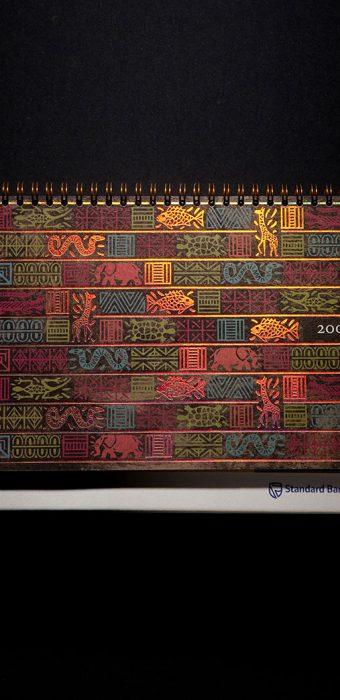 """Настольный перекидной календарь """"Standard Bank"""""""