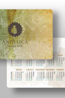 Карманный календарик Angelica