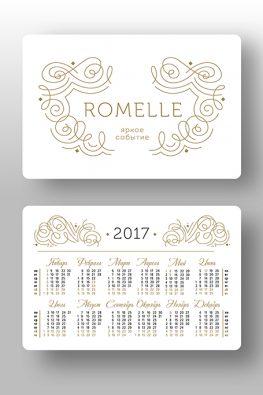 "Карманный календарь ""Romelle"""