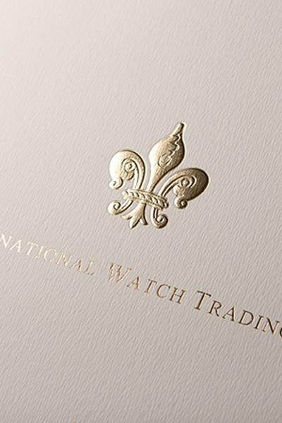 """Папка """"International Watch Trading"""" с конгревом и тиснением"""
