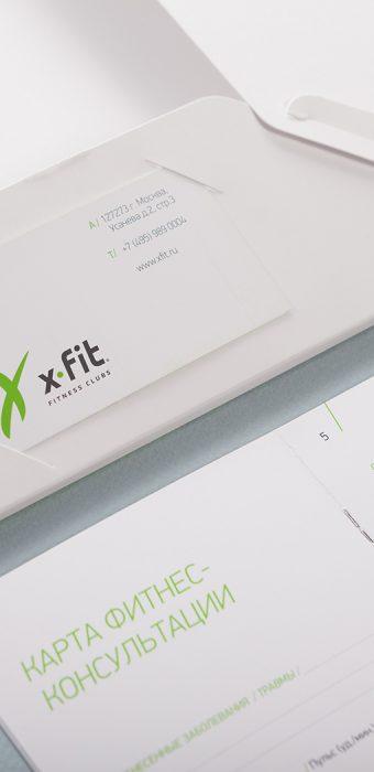 """Папка """"Xfit"""" с просечками для визитки"""