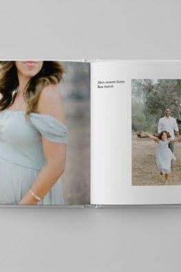 """Фотокнига """"Наша семья"""". Размер: 200х200 мм. Страницы в блоке."""