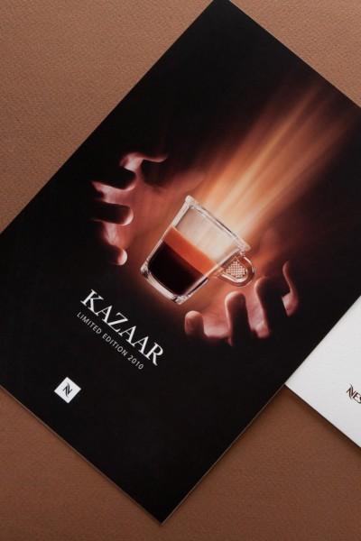 Приглашение для Nespresso. Полноцветная печать.