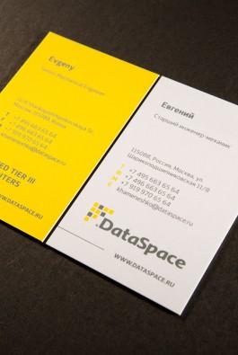 "Визитки компании ""DataSpace"""