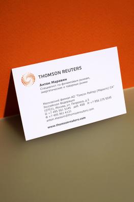 визитки компании Thompson Reuters