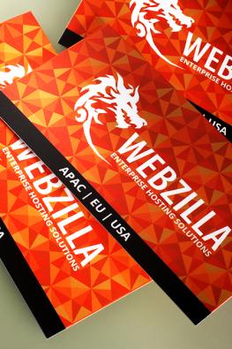 визитки компании WebZilla