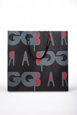 """Бумажный пакет для """"GQ Bar"""""""