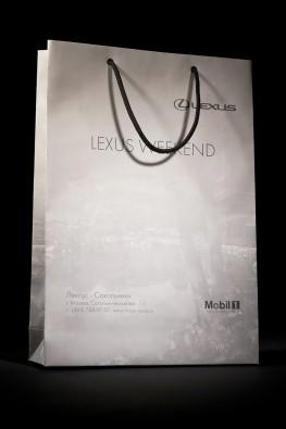 """Бумажный пакет для компании """"Lexus"""""""