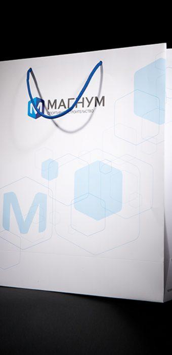 """Бумажный пакет для компании """"Магнум"""""""