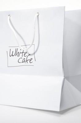 """Бумажный пакет для """"White Cafe"""""""