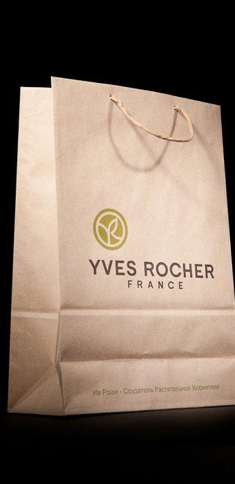 """Бумажный пакет для компании """"Yves Rocher"""""""
