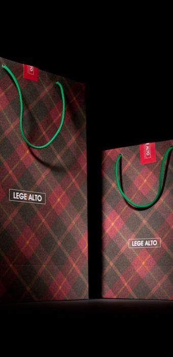 """Бумажный пакет для компании """"Lege Alto"""""""
