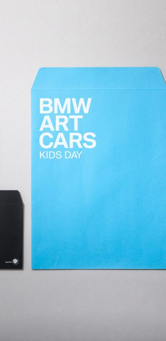 "конверт ""BMW Art Cars"" к мероприятию Kids Day"