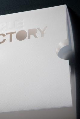 """конверт """"BMW Victory"""" с вырубкой и блинтовым тиснением"""