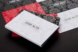 """визитки компании """"Lege Alto"""" (дизайн интерьеров)"""