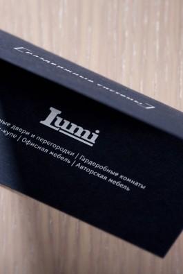 "визитки компании ""Lumi"""