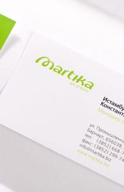 "визитки компании ""Martika"""