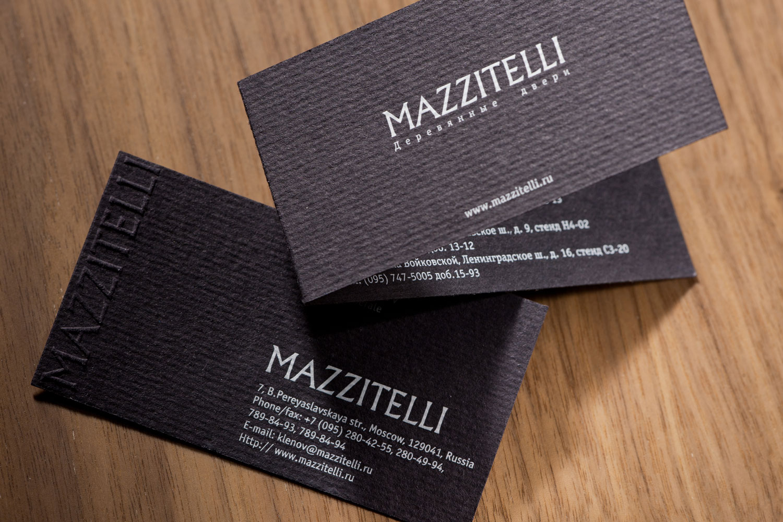 визитки компании Mazzitelli