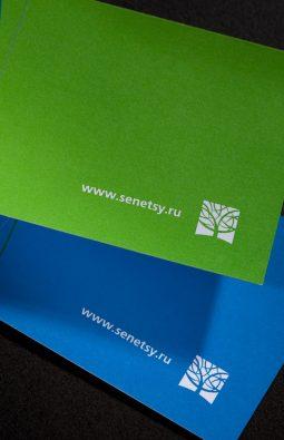 "визитки компании ""Senetsy"""