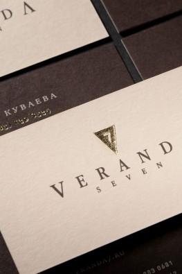 "Визитки ресторана ""Veranda-7"""
