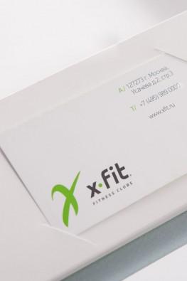 "Визитки фитнес-центра ""X-Fit"""