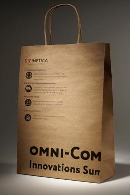 Бумажный крафт пакет с ручками из крафта Diginetica