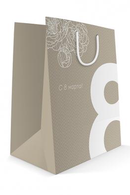 Бумажный пакет к 8 марта «Большая восьмерка»
