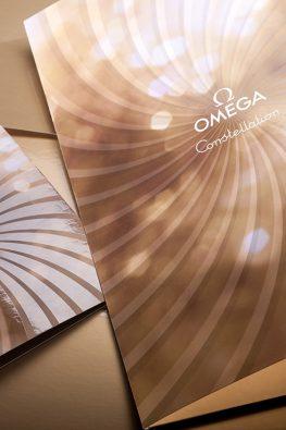Приглашение и папка для Omega Constellation Party с Синди Кроуфорд